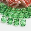 Beads, Imitation Crystal beads, Acrylic, Dark green, Faceted Cubes, 10mm x 10mm x 10mm, 18g, 40 Beads, [SLZ0544]